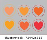 flat heart icon. | Shutterstock .eps vector #724426813