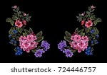 flower embroidery  flower patch ... | Shutterstock .eps vector #724446757