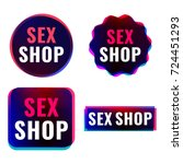 sex shop. badges  icons  logos... | Shutterstock .eps vector #724451293