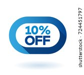 10  off rounded sign icon.... | Shutterstock .eps vector #724451797