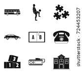 discipline icons set. simple... | Shutterstock .eps vector #724453207