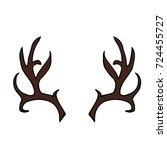antlers illustration. doodle... | Shutterstock . vector #724455727