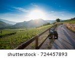 Touring Bike On Via Claudia...