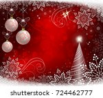 red bright christmas background ... | Shutterstock .eps vector #724462777