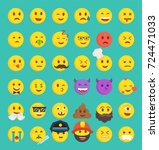 high quality collection of 36... | Shutterstock .eps vector #724471033