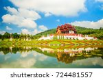 the royal flora ho kum loung in ... | Shutterstock . vector #724481557