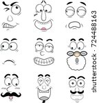 cartoon eyes in vector   Shutterstock .eps vector #724488163