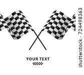 checkered flags. racing flags.... | Shutterstock .eps vector #724498363