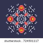 ornament on dark background....   Shutterstock . vector #724501117