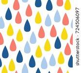 abstract handmade drop seamless ... | Shutterstock .eps vector #724506097