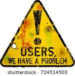 website down sign  vector... | Shutterstock .eps vector #724514503