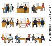 business people sitting room... | Shutterstock .eps vector #724517467