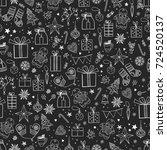 vector seamless christmas... | Shutterstock .eps vector #724520137