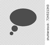 speech bubble vector icon eps... | Shutterstock .eps vector #724521343