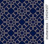 Golden Geometric Print On Dark...
