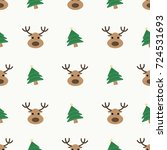 seamless cute pattern with... | Shutterstock .eps vector #724531693