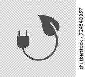 green plug vector icon eps 10.... | Shutterstock .eps vector #724540357