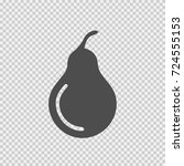 pear vector icon eps 10. simple ... | Shutterstock .eps vector #724555153