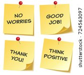sticky note with text and...   Shutterstock .eps vector #724563097