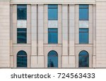 several windows in a row on... | Shutterstock . vector #724563433