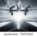 take off against a sunrise   Shutterstock . vector #724572637