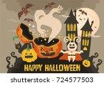 halloween   Shutterstock .eps vector #724577503