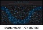 high detailed sky maps vector... | Shutterstock .eps vector #724589683