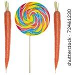diet concept with rainbow...   Shutterstock . vector #72461230