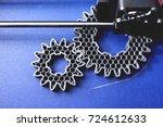 fdm 3d printer manufacturing... | Shutterstock . vector #724612633