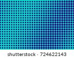 blue and cyan halftone vector... | Shutterstock .eps vector #724622143