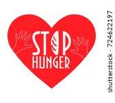 stop hunger  malnutrition or... | Shutterstock .eps vector #724622197