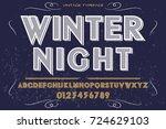 script handcrafted vector... | Shutterstock .eps vector #724629103