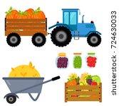 vector harvest flat icons...   Shutterstock .eps vector #724630033