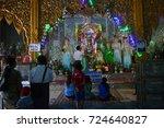myanmar  mt. popa . august 25 ... | Shutterstock . vector #724640827