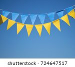garlands with multi colored... | Shutterstock . vector #724647517
