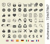 shopping icons. web sign and... | Shutterstock .eps vector #724657867