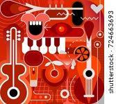 music festival  concert and...   Shutterstock .eps vector #724663693