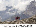 moro pass near macugnaga  italy ... | Shutterstock . vector #724664317