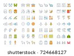 set vector line icons  sign and ... | Shutterstock .eps vector #724668127