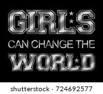 slogan graphic for t shirt | Shutterstock . vector #724692577