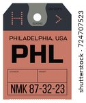 vintage luggage tag. real... | Shutterstock .eps vector #724707523