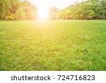 park green forest  | Shutterstock . vector #724716823