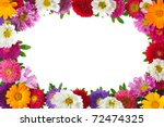 colorful aster floral frame... | Shutterstock . vector #72474325