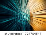 abstract motion blur effect on... | Shutterstock . vector #724764547
