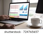 business information technology ... | Shutterstock . vector #724765657