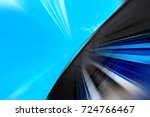 abstract motion blur effect on... | Shutterstock . vector #724766467