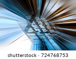 motion blur visual effect on... | Shutterstock . vector #724768753