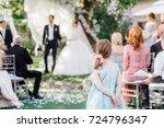wedding ceremony in the garden. ...   Shutterstock . vector #724796347