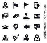 16 vector icon set   pointer ... | Shutterstock .eps vector #724798633