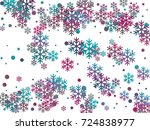 cyan blue  magenta and grey...   Shutterstock .eps vector #724838977